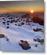 sunset over National park Sierra Nevada Metal Print