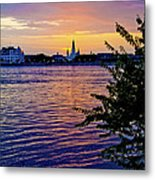 Sunset Over New Orleans 1 Metal Print