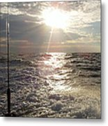 Sunset Over Nj After Fishing Metal Print