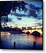 Sunset Over Putney Bridge Metal Print by Maeve O Connell