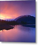 Sunset Over Resurrection River And Exit Metal Print