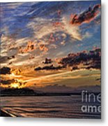 Sunset Over Rethymno Crete Metal Print