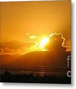 Sunset Over San Pablo Bay Metal Print