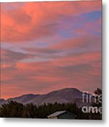 Sunset Over Squaw Butte Metal Print