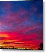 Sunset Over Swansea Tasmania Metal Print