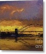 Sunset Over Sydney Harbour A Turneresque View Metal Print