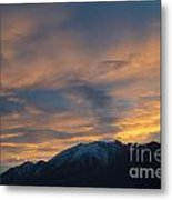 Sunset Over The Alps Metal Print