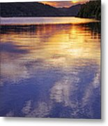 Sunset Over The Arkansas River Metal Print