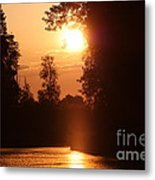 Sunset Over The Canals Metal Print