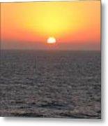 Sunset Over The Caribbean Metal Print