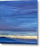 Sunset Over The European Alps Metal Print