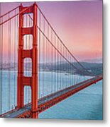Sunset Over The Golden Gate Bridge Metal Print