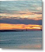 Sunset Over The Golden Gate Metal Print