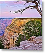 Sunset Over The Grand Canyon From South Rim Trail In Grand Canyon National Park-arizona   Metal Print