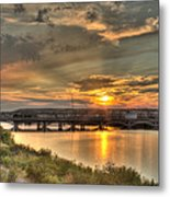 Sunset Over The Great Falls Metal Print