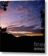 Sunset Over The Hills Metal Print