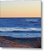 Sunset Over The Ice Metal Print