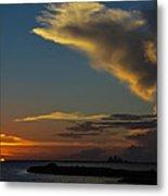 Sunset Over The Laguna Madre Metal Print