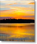 Sunset Over The Lake Metal Print