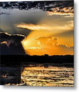 Sunset Over The Mead Wildlife Area Metal Print