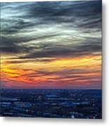 Sunset Over The Metro Metal Print