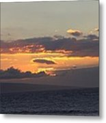 Sunset Over The Mountain Metal Print