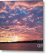 Sunset Over The Narrows Waterway Metal Print