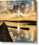 Sunset Over The Ocean I Metal Print