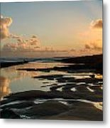 Sunset Over The Ocean IIi Metal Print