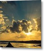 Sunset Over The Ocean Iv Metal Print