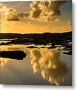Sunset Over The Ocean V Metal Print by Marco Oliveira