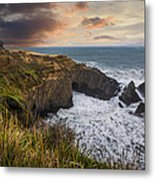Sunset Over The Oregon Coast Metal Print