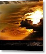 Sunset Over The Pacific I Metal Print by Helen Carson