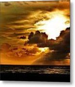 Sunset Over The Pacific II Metal Print by Helen Carson