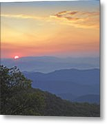 Sunset Over The Pisgah National Forest Metal Print