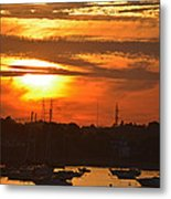 Sunset Over The Salem Willows Metal Print