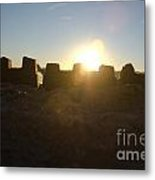 Sunset Over The Sand Castle 3 Metal Print
