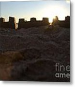 Sunset Over The Sand Castle 4 Metal Print