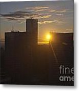 Sunset Over The Skyline Of Vancouver Metal Print