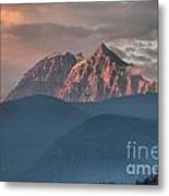 Sunset Over The Tantalus Mountains In Squamish Metal Print