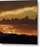 Sunset Over The Tucson Mountains Metal Print
