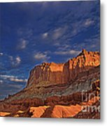 Sunset Over The Waterpocket Fold Capitol Reef National Park Metal Print
