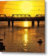 Sunset Over Town Lake Metal Print