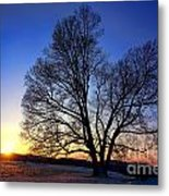 Sunset Over Valley Forge Metal Print