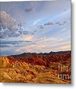 Sunset Over Valley Of Fire State Park In Nevada Metal Print