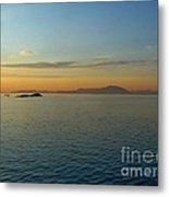 Sunset Over Vancouver Island Metal Print