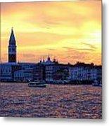 Sunset Over Venice Metal Print