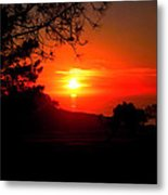 Sunset Pacifica Metal Print