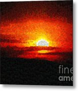 Sunset Painting Metal Print