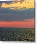 Sunset Panorama Over Atlantic Ocean Metal Print